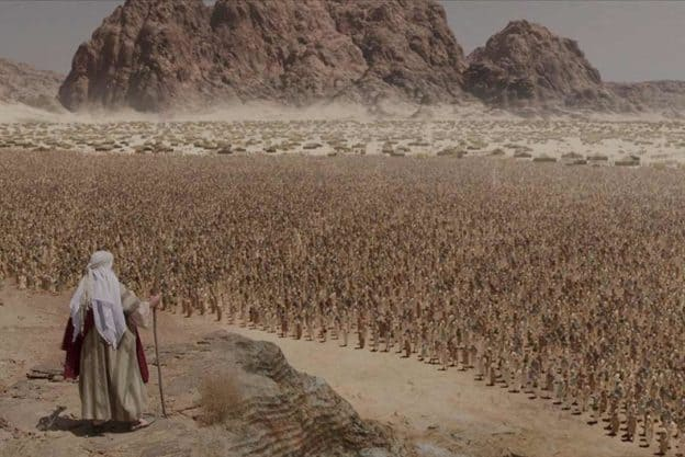 Moses addressing the Israelites at Mount Sinai, from the Patterns of Evidence film series